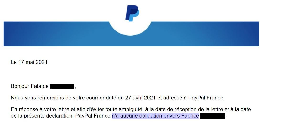 obligation paypal
